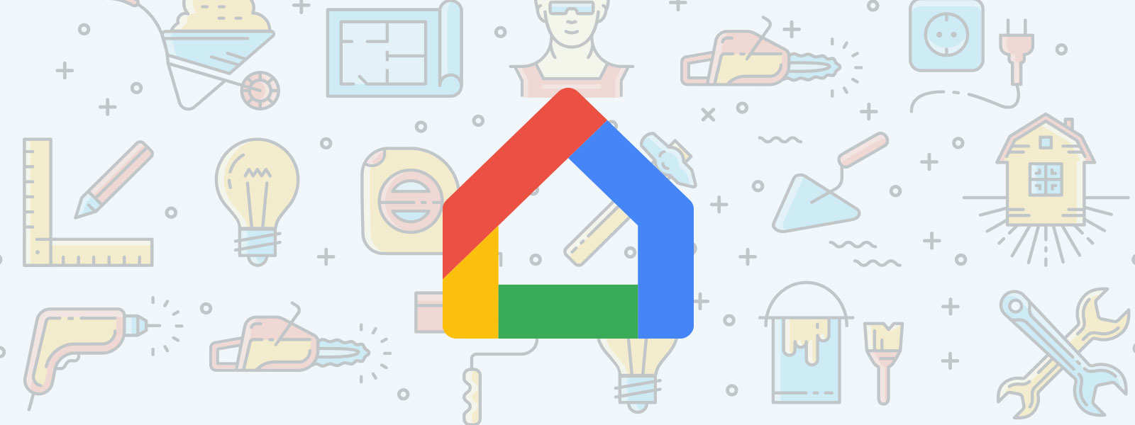 google home search logo background