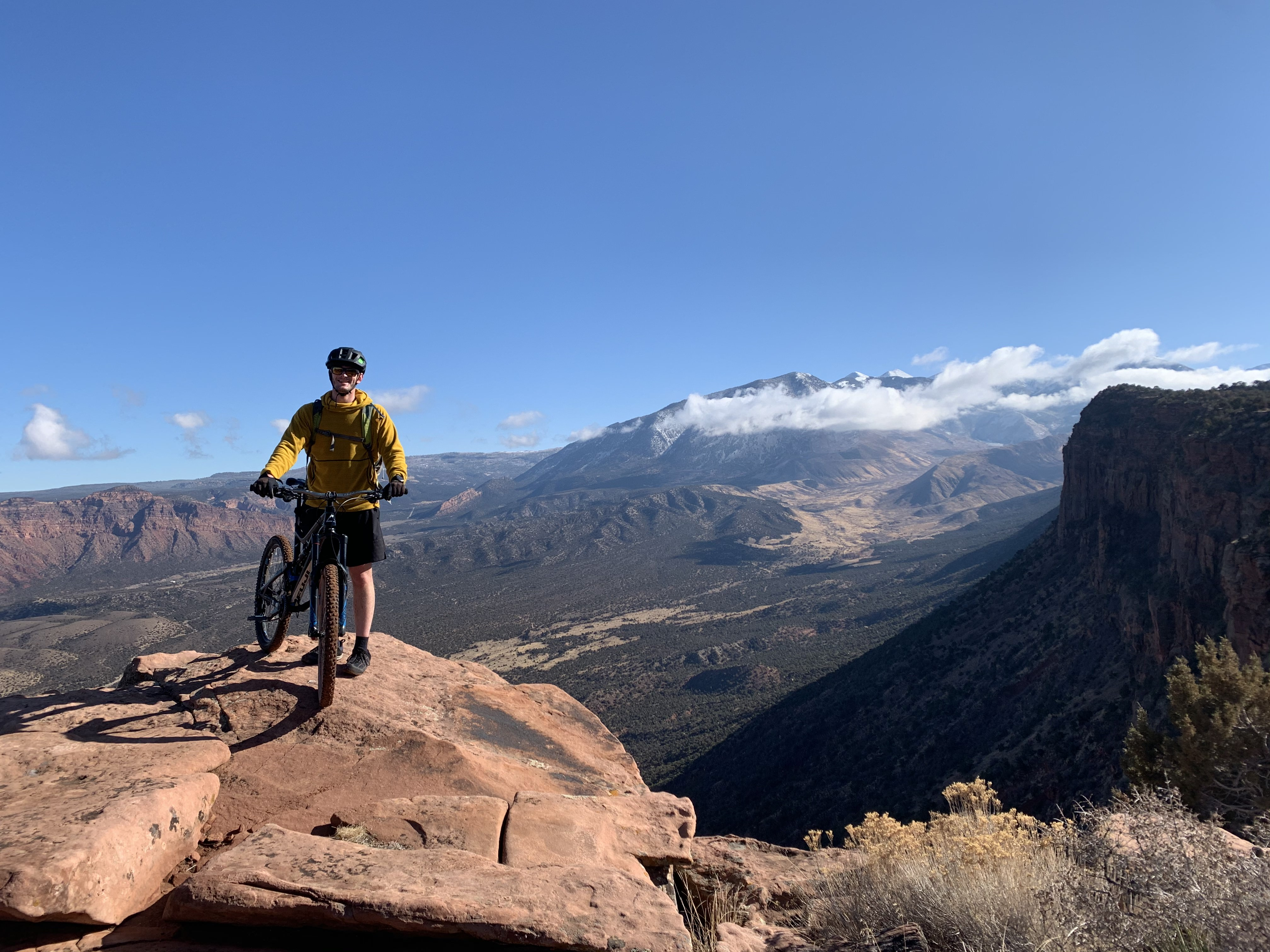 Michael Mountain Biking the Porcupine Rim Trail In Moab, Utah.