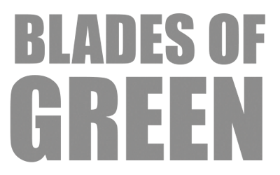 Blades of Green lawn care logo